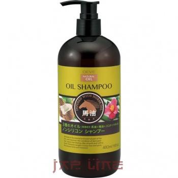 Японский шампунь для сухих волос с 3 видами масел (лошадиное, кокосовое и масло камелии) БЕЗ СИЛИКОНА DEVE