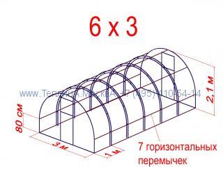 Теплица Кремлевская Оптима Цинк 3 х 6 с поликарбонатом Polygal Колибри 4 мм