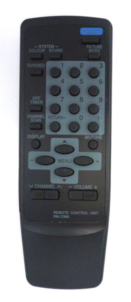 JVC RM-C360 (TV) черный (AV-1411EE, AV-1413EE, AV-1414EE , AV-1434EE, AV-14A4EE, AV-14T2, AV-2104EE, AV-2113EE, AV-2114EE, AV-2124EE, AV-21A4EE, AV-21P7EE, AV-A21M3, AV-A21T2, AV-F21AV3)