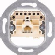 механизм телефонной розетки 8 контактов RJ 45 кат. 3
