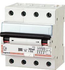 Дифференциальный автомат Legrand 4-полюсный 30mA/16А-AC-4M