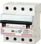 Дифференциальный автомат Legrand 4-полюсный 300mA/25А-AC-4M