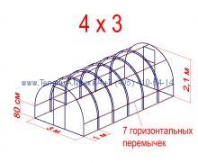 Теплица Кремлевская Оптима Люкс 3 х 4 с поликарбонатом Polygal Колибри 4 мм