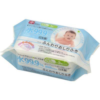 Японские детские влажные салфетки LEC 80 шт