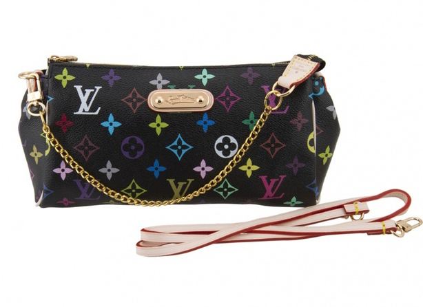 "Клатч Louis Vuitton ""Eva"" Monogram Multicolor Black"