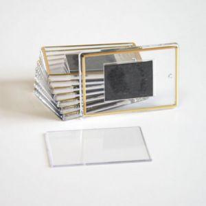 `Заготовка акриловая с магнитом 52х77 мм, с тиснением (золото)