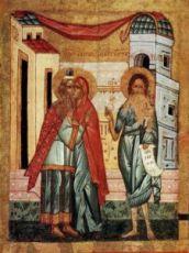 Икона Зачатие Иоанна Предтечи (копия старинной)