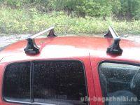 Багажник на крышу Renault Symbol, Атлант, аэродинамические дуги