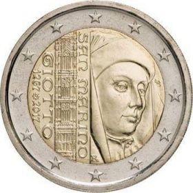 750 лет со дня рождения  Джотто ди Бондоне 2 евро Сан-Марино 2017 на заказ