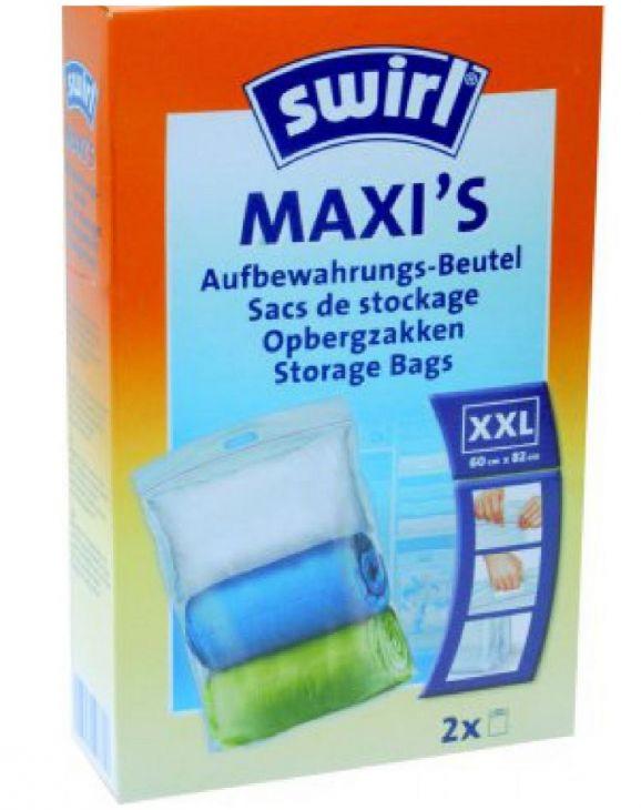 Пакеты для хранения размер XXL 60х82 см 2 шт Swirl