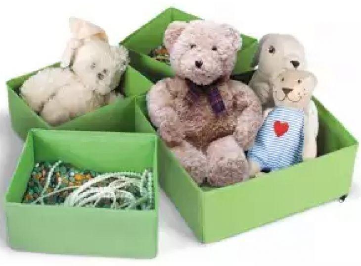 Набор раскладных коробок для хранения вещей 4 шт Prima House