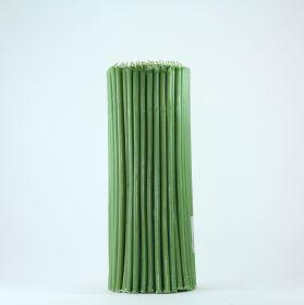 Свечи церковные восковые (Зелёные) № 30, 2 кг. Длина 29 см, диаметр 8,5 мм. 150 штук/пачка