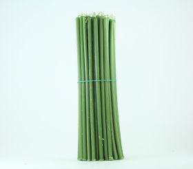 Свечи церковные восковые (Зелёные) № 20, 1 кг. Длина 30 см, диаметр 9,5 мм. 50 штук/пачка