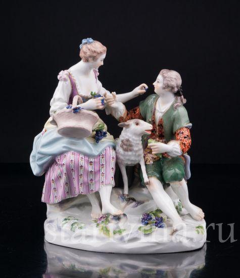Изображение Пара виноградом и овечкой, Meissen, Германия,сер.20 в