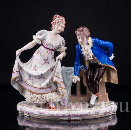 Галантная пара, Sitzendorf, Германия, вт. пол.20 в., артикул 02954