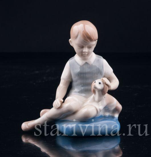 Изображение Верные друзья, мальчик с собакой, Grafenthal, Германия, вт.  пол. 20 в