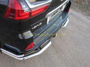 Накладка на задний бампер (Тип 2) для Lexus LX