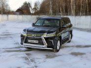 Защита переднего бампера 76х75 мм для Lexus LX 2015 -