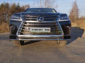 Защита переднего бампера 42 мм для Lexus LX 2015 -