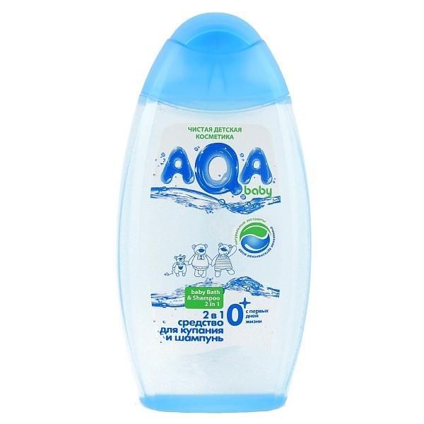 AQA baby Средство для купания и шампунь 2 в 1, 250 мл.