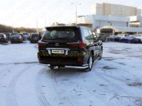 Защита заднего бампера 76х42 мм для Lexus LX 2015-