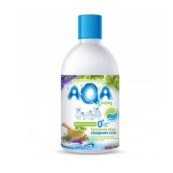 """AQA baby Травяной сбор для купания малышей """"Сладкий сон"""", 300мл."""