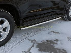 Защита штатного порога 50 мм для Lexus LX 2015-