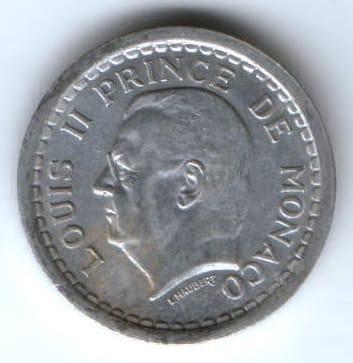 2 франка 1943 г. Монако