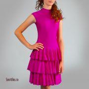 платье для девочки малинового цвета