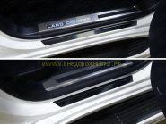Накладки на пороги с подсветкой (Тип 16) для Toyota Land Cruiser 200 2015