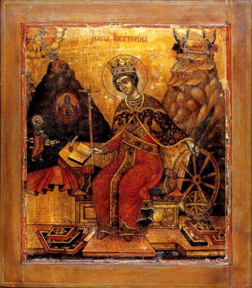 Икона Екатерина (18 век)