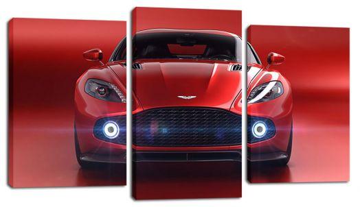 Модульная картина Красное авто