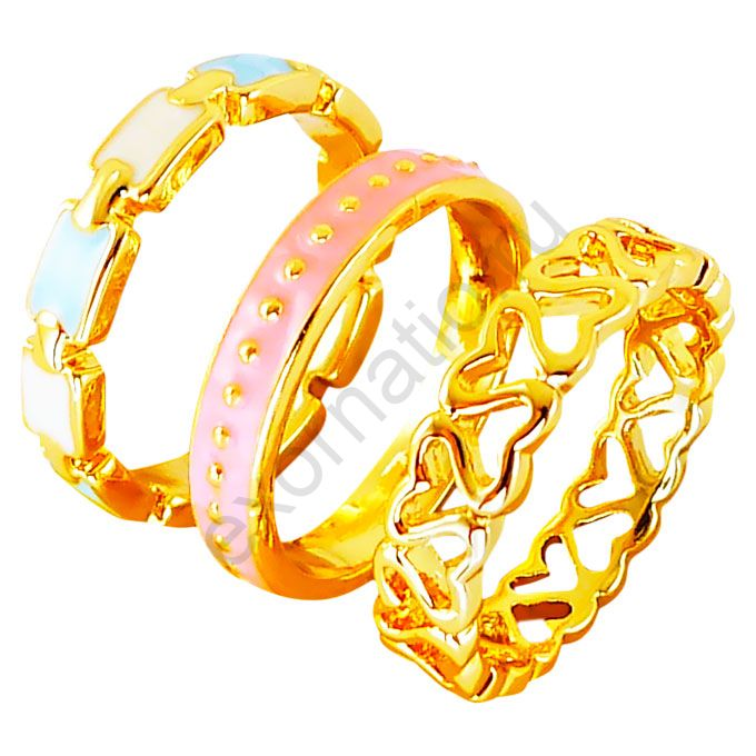 Кольцо Laetitia Moreau 36940-9529. Набор колец под золото