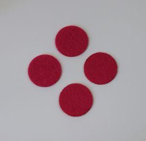Фетровые пяточки 25мм, цвет № 03 ярко-розовый