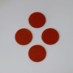 Фетровые пяточки 25мм, цвет № 17 темно-оранжевый
