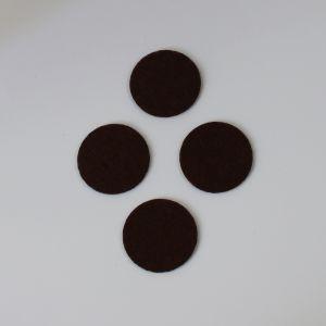 Фетровые пяточки 25мм, цвет № 35 коричневый