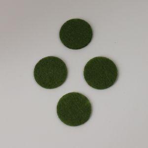 Фетровые пяточки 25мм, цвет № 47 оливковый