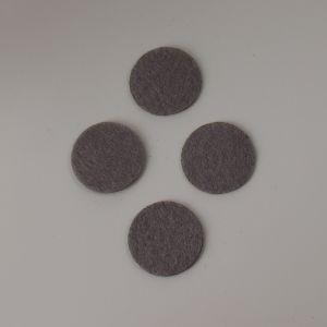 Фетровые пяточки 25мм, цвет № 57 серый