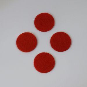 Фетровые пяточки 30мм, цвет № 19 алый