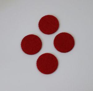 Фетровые пяточки 35мм, цвет № 06 красный