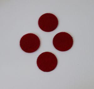 Фетровые пяточки 35мм, цвет № 07 темно-красный