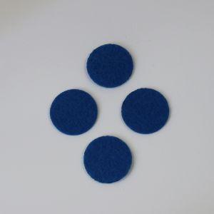 Фетровые пяточки 35мм, цвет № 22 синий