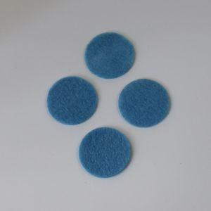 Фетровые пяточки 35мм, цвет № 24 голубой