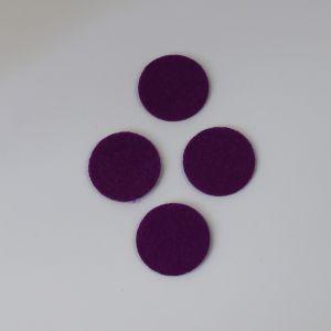 Фетровые пяточки 35мм, цвет № 27 темно-фиолетовый