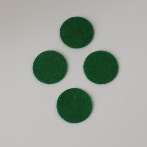 Фетровые пяточки 35мм, цвет № 48 зеленый
