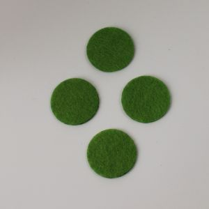 Фетровые пяточки 35мм, цвет № 49 светло-оливковый