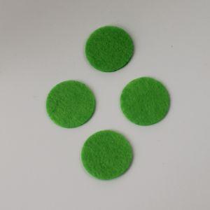 Фетровые пяточки 35мм, цвет № 50 светло-зеленый