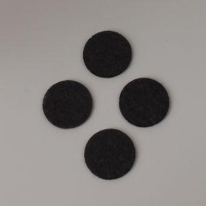 Фетровые пяточки 35мм, цвет № 55 темно-серый