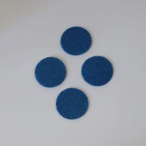 Фетровые пяточки 40мм, цвет № 23 светло-синий