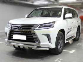Защита переднего бампера  76 мм для Lexus LX 2015 -